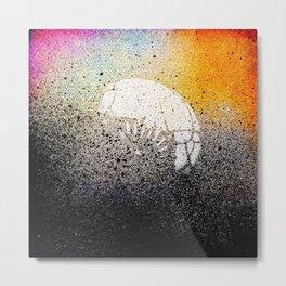 Sand Sprayed Metal Print