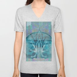 Blue Kali Goddess Visionary Unisex V-Neck
