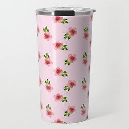 Pattern Background Flowers Travel Mug