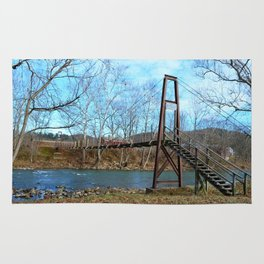 Swinging Bridge, Rockbridge Baths, VA Rug