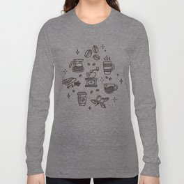 Coffee Doodles Long Sleeve T-shirt