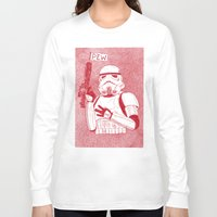 trooper Long Sleeve T-shirts featuring Storm Trooper by David Penela