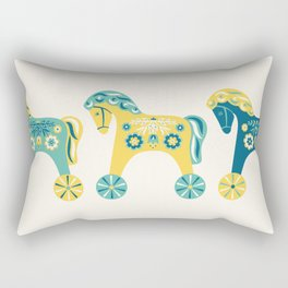 Swedish Toy Horses Rectangular Pillow