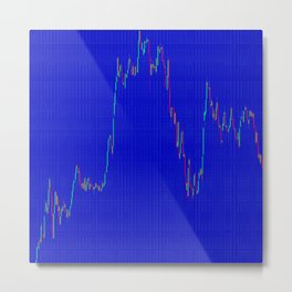 Grid  blue with color chart Metal Print