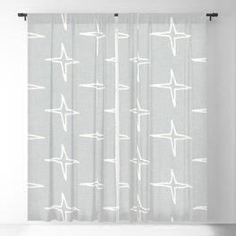 Nautical Star Grey  #homedecor Blackout Curtain