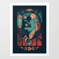 nouveau Art Prints featuring Aran Nouveau by Victor Vercesi