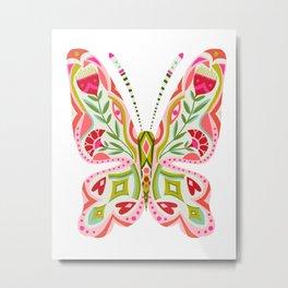 Butterfly no. 2 - hippie floral dorm art Metal Print