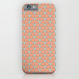 LOUPE melon aquamarine white create a warm edgy pattern iPhone Case