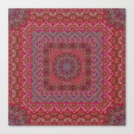 Farah Squared Red Canvas Print