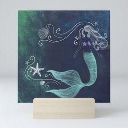 chalk mermaid #2 Mini Art Print