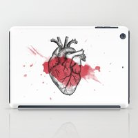 anatomical heart iPad Cases featuring Anatomical heart - Art is Heart  by AdaLovesTheRain