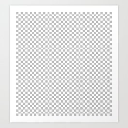Pixel grid // blank canvas // gray checkers // png // dpi // ppi Art Print