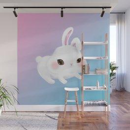 Fluffy Rabbit Baby Wall Mural