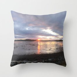 Panoramic Sunset on the Cove Throw Pillow