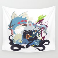 ursula Wall Tapestries featuring Team Ursula by Citron Vert