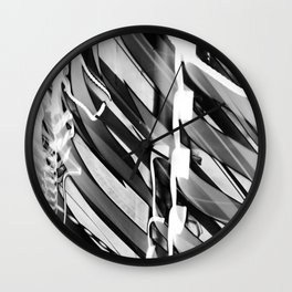 Light Dance Dark Stripes Wall Clock