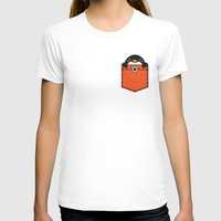 pocket T-shirts featuring Pocket Penguin by Steven Toang