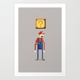 Pixel Plumber Art Print