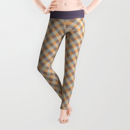 Classic diagonal plaid Leggings