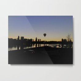 Off in the sunset Metal Print