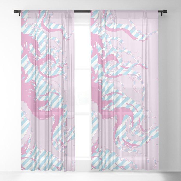 Rebirth of Venus - Pink & Cyan - Trans Pride! - Window Curtain (Right) Sheer Curtain