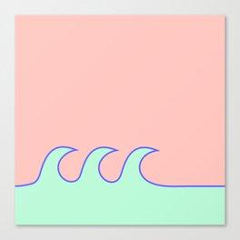 Sea Foam-o (Millennial Pink Edition) Canvas Print