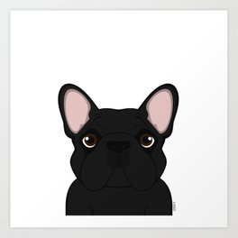 Frenchie - Black Brindle Art Print