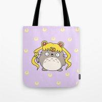 ghibli Tote Bags featuring Sailor Ghibli by KiraKiraDoodles