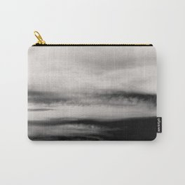 WHITE & BLACK TOUCHING #2 #abstract #decor #art #society6 Carry-All Pouch