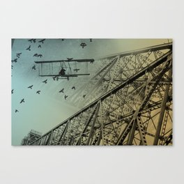 Birds and Bridges Canvas Print