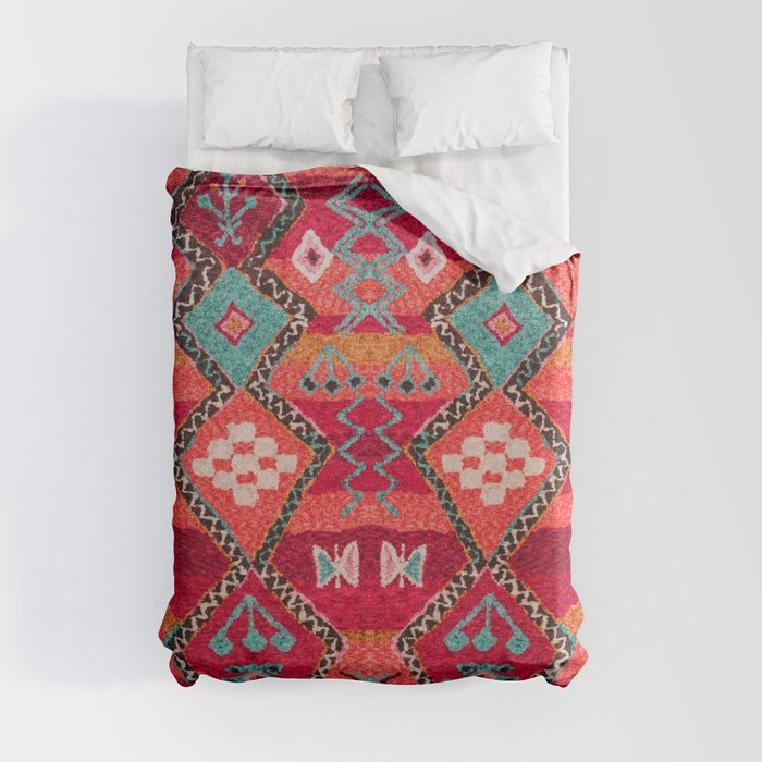 N18 - Traditional Colored Oriental Moroccan Artwork Duvet Cover