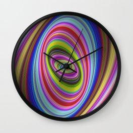 Colorful hypnosis Wall Clock