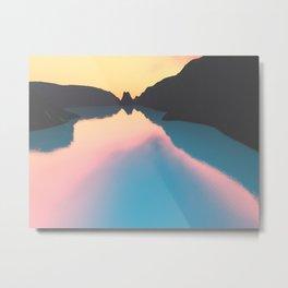 Indonesian crater lakes Metal Print