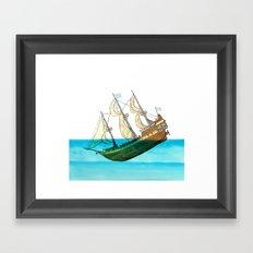 Sinking Ship Framed Art Print