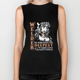 welder weed t-shirts Biker Tank