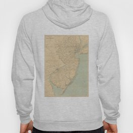 Vintage Map of New Jersey (1891) Hoody