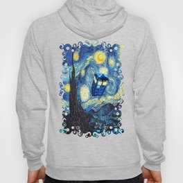 Soaring Tardis doctor who starry night oil painting Hoody
