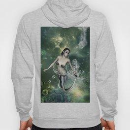 Awesome fantasy mermaid in the deep ocean Hoody