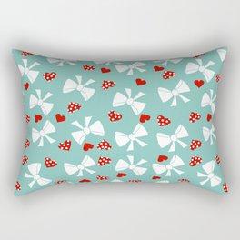 Lace gift wrap aqua Rectangular Pillow