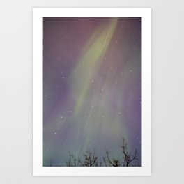 Aurora Borealis Drapes Art Print