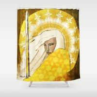 """faith Shower Curtains featuring Faith by Barbara """"Yuhime"""" Wyrowińska"""