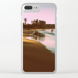 Manly beach surf Clear iPhone Case