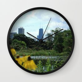 Garden View Wall Clock
