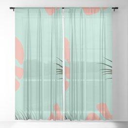 Tropical design 001 Sheer Curtain
