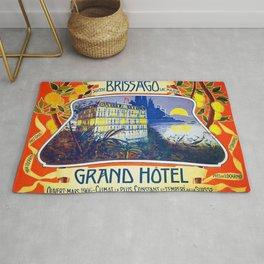 1905 Grand Hotel Isole di Brissago Ticino, Switzerland Advertisement Poster Rug