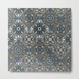 Beautiful Oriental tile ornament Metal Print