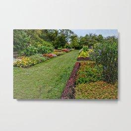 USA Longwood Kennett Square Pennsylvania Nature Parks Petunia Tagetes Lawn Shrubs park Bush Metal Print