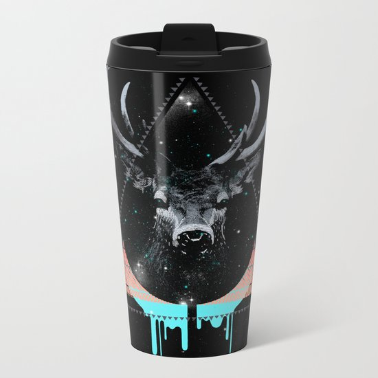 The Blue Deer Metal Travel Mug