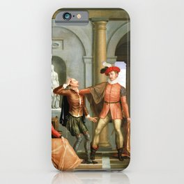 Washington Allston Scene from Shakespeare's The Taming of the Shrew (Katharina and Petruchio) iPhone Case
