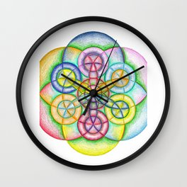 Fundamental Patterns of the Universe - The Rainbow Tribe Collection Wall Clock